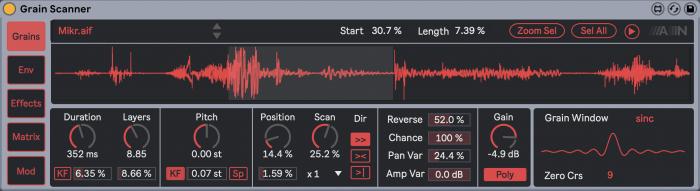 Amazing Noises Grain Scanner