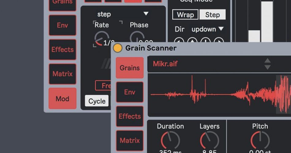Amazing Noises Grain Scanner Max for Live