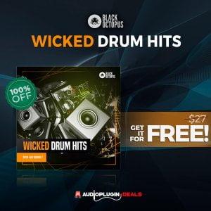 Audio Plugin Deals Black Octopus Wicked Drum Hits FREE