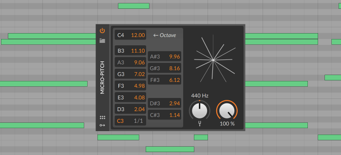 Bitwig Studio 3.1 Micro Pitch 6C