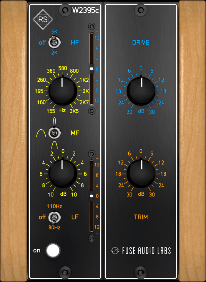 Fuse Audio Labs RS W2395c GUI