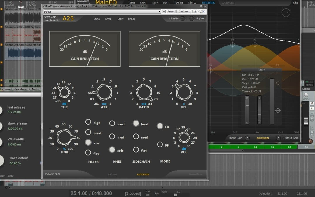 SKnote intros A25 stereo bus compressor, available with AnyTesla preorder