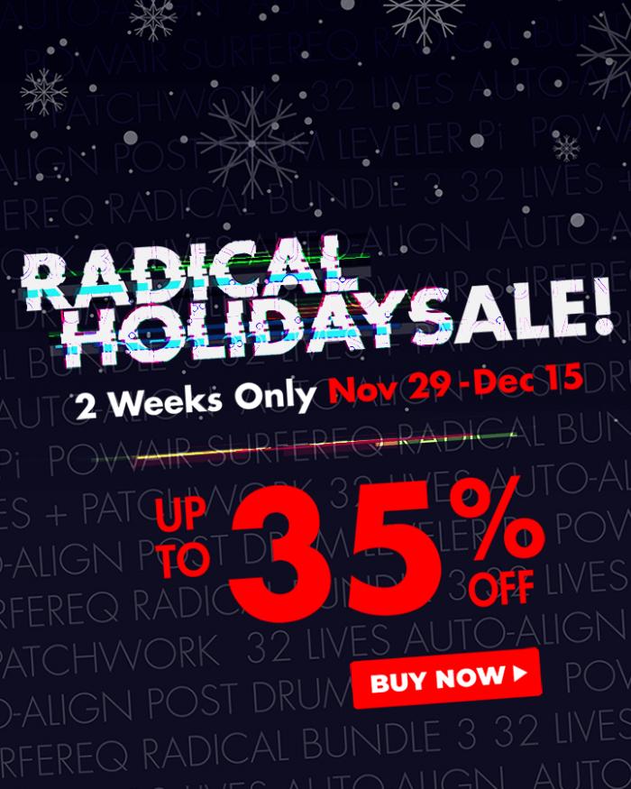 Sound Radix Holiday Sale 2019