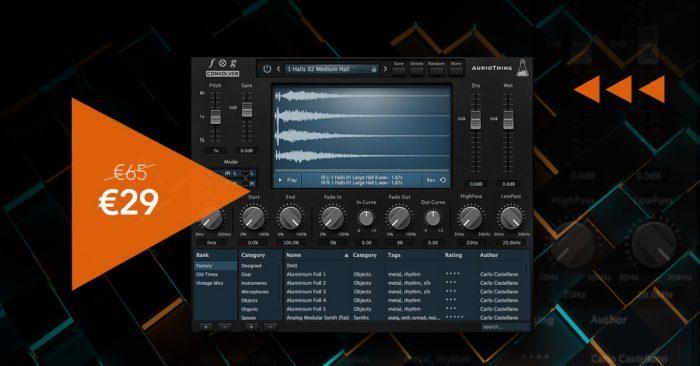VST Buzz AudioThing Fog Convolver 29 EUR