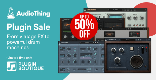 AudioThing Holiday Sale 50 OFF plugins