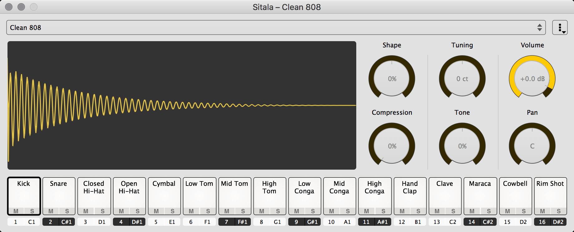Decomposer updates Sitala free drum sampler plugin to Beta 2