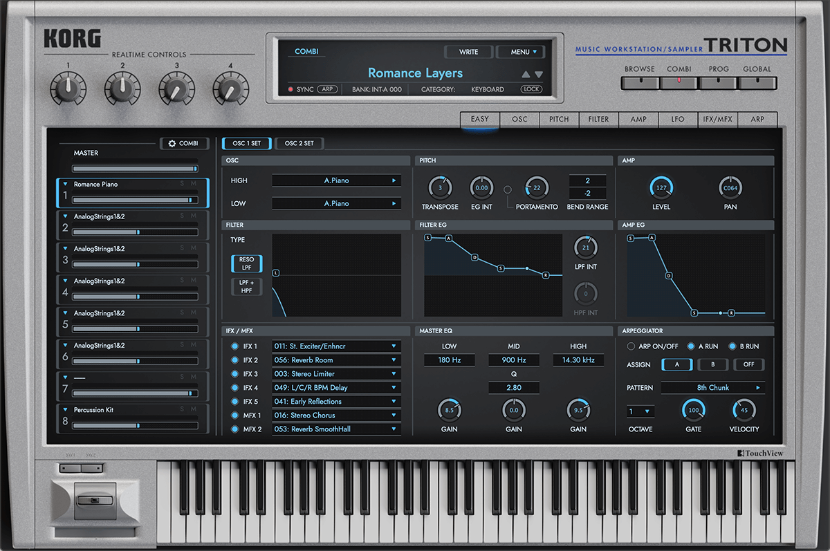Korg releases Korg Collection Triton software workstation synthesizer