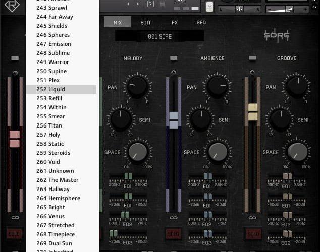 Rigid Audio Sore (Mix page)
