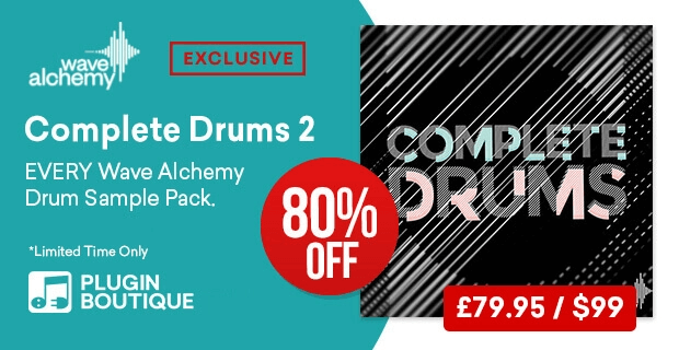 80% OFF Wave Alchemy Complete Drums 2