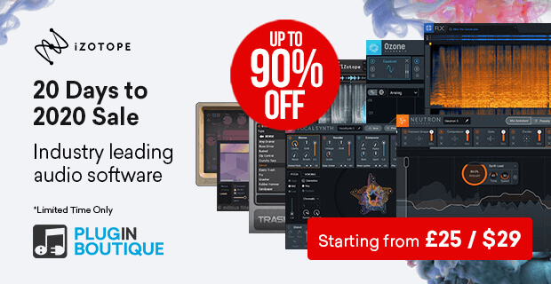 iZotope 20 Days to 2020 Sale