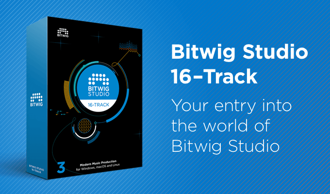Bitwig offers entry-level Bitwig Studio 16-Track DAW