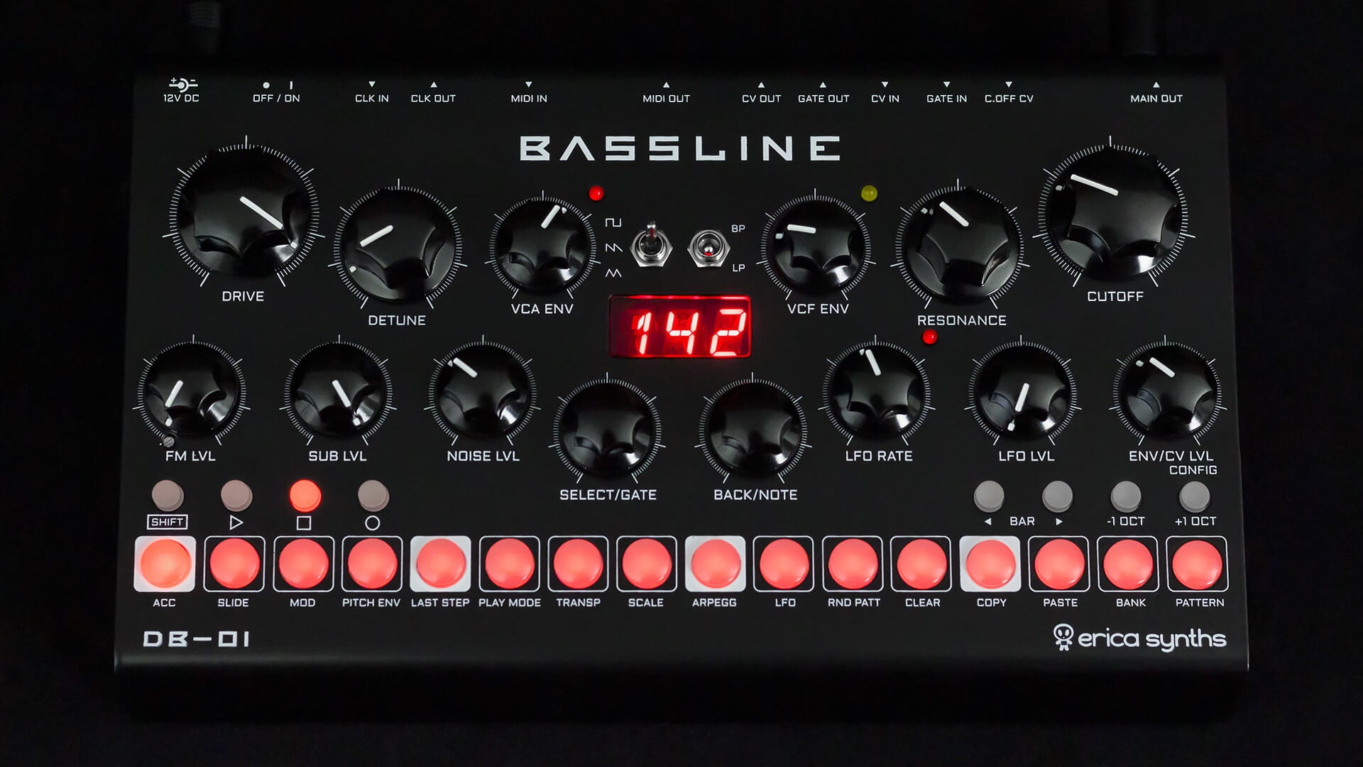 Erica Synths announced Bassline DB-01 desktop synthesizer