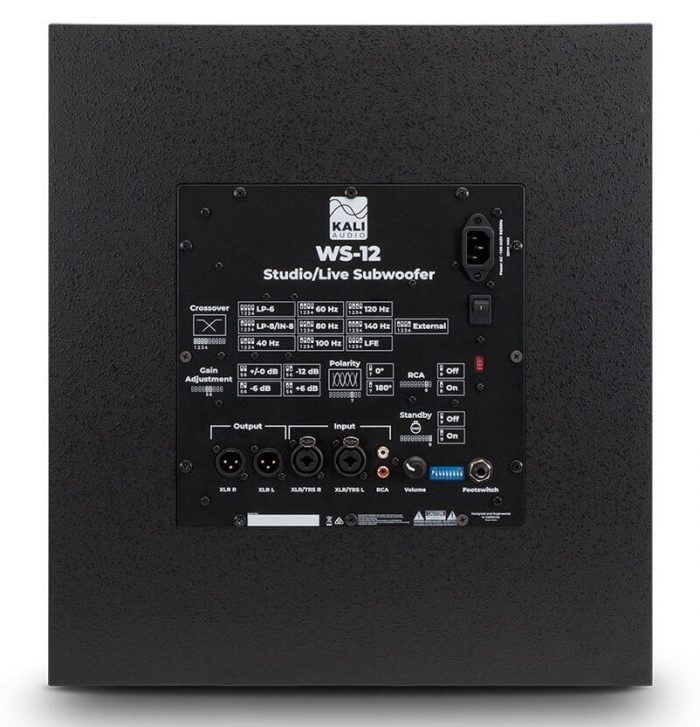 Kali Audio WS 12 back
