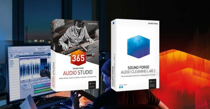 Magix Sound Forge Audio Studio 14 and Audio Cleaning Lab 2