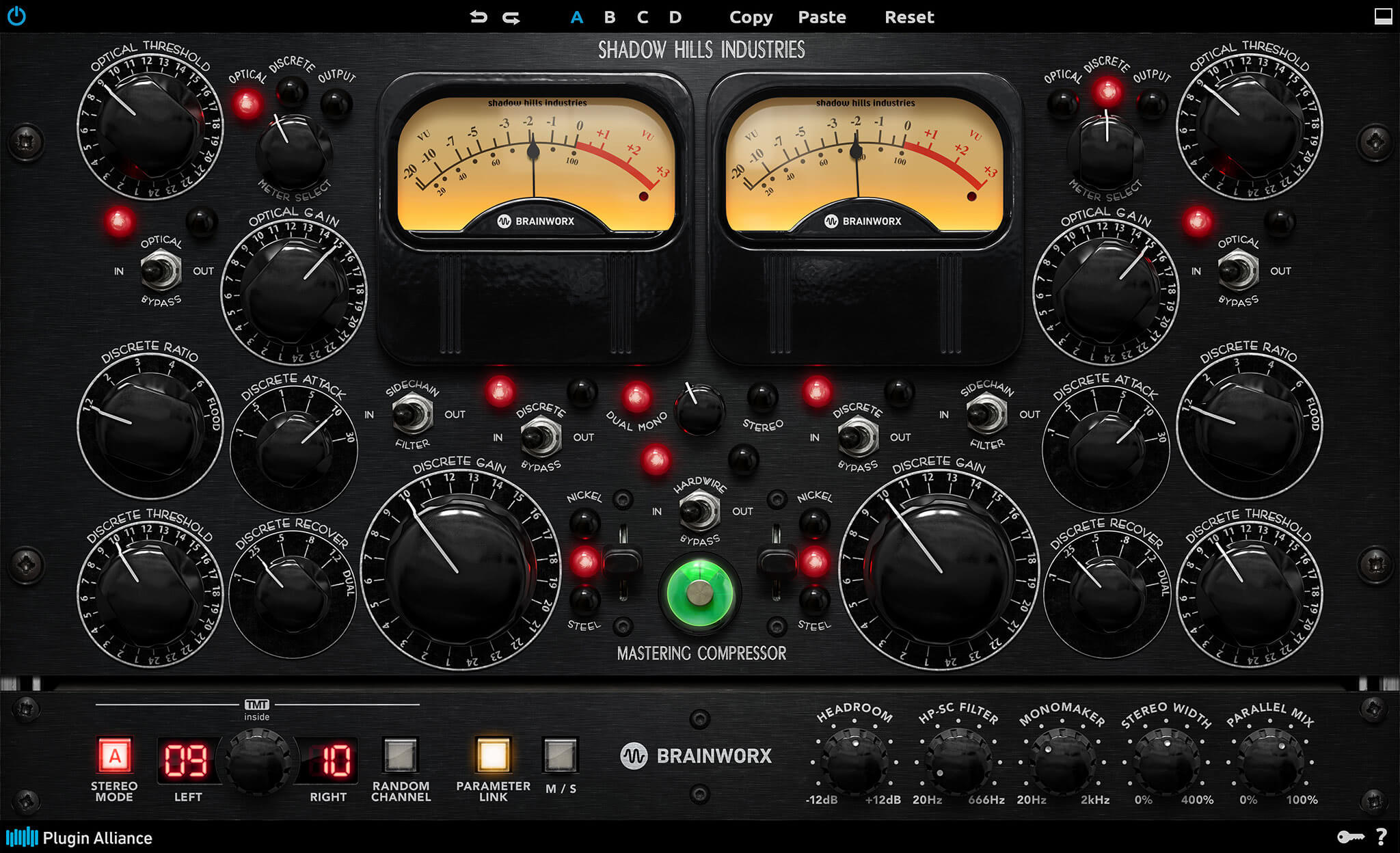 Shadow Hills Mastering Compressor Class A available at Plugin Alliance