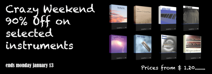 SampleTekk Crazy Weekend Sale