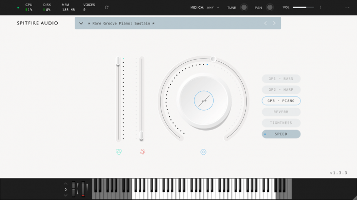 Spitfire LABS Rare Groove Piano screen