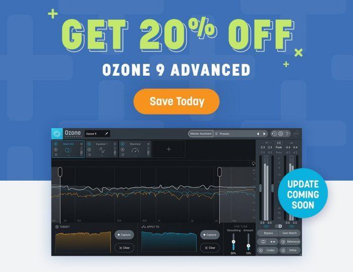 iZotope Ozone 9 Advanced 20 OFF