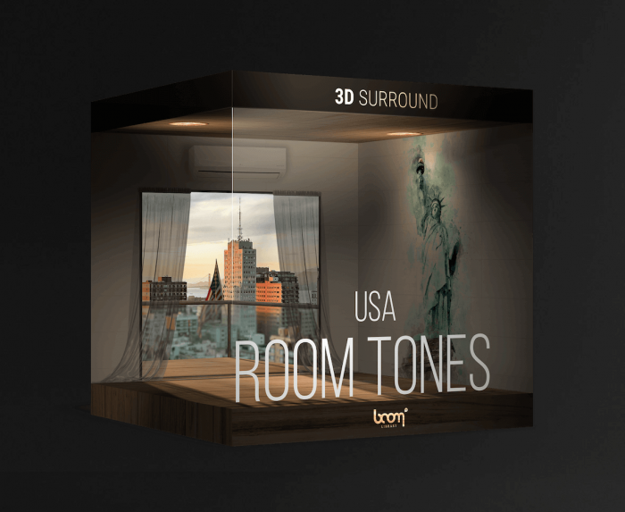 BOOM Roomtones USA 3D Sound Effects