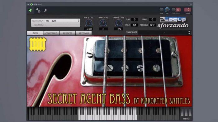 Karoryfer Samples Secret Agent Bass