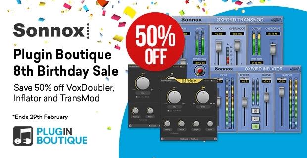 Sonnox Birthday Sale 50 OFF