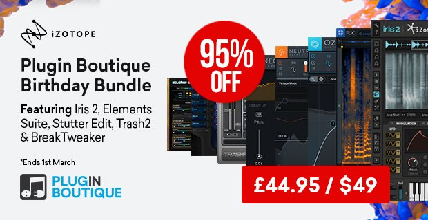 iZotope 8thBirthday bundle