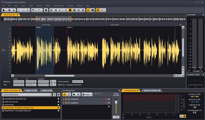 Acoustica   Clip Editor