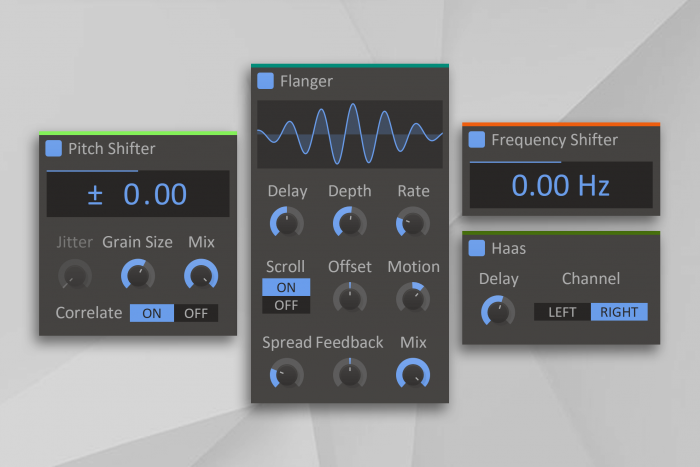 Kilohearts Flanger, FS, Haas and PS