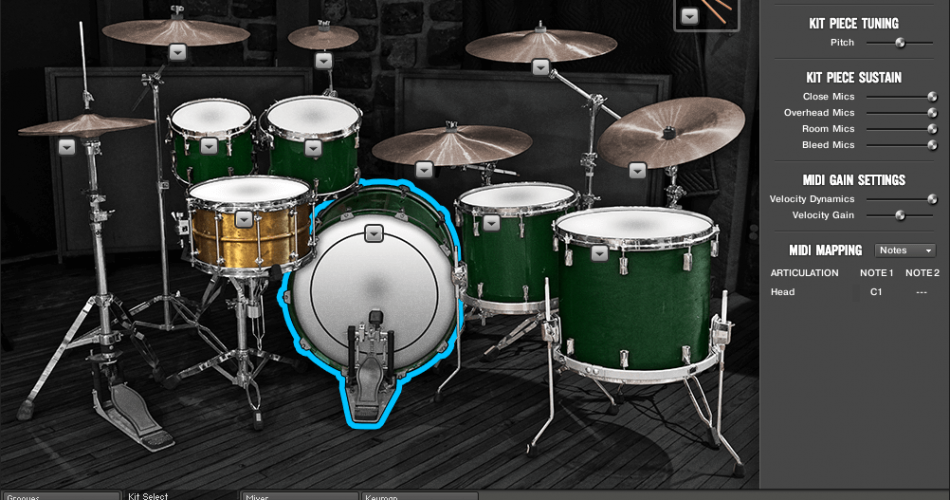 Room Sound Beau Burchell Signature Series Drums
