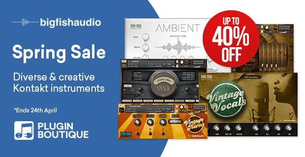 Big Fish Audio Spring Sale