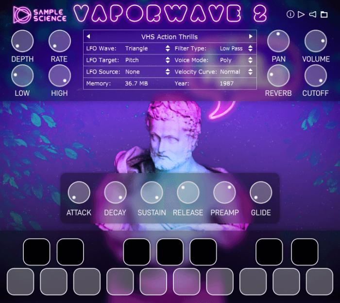 SampleScience Vaporwaves 2 screen