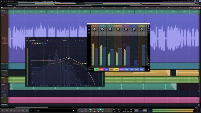 Tracktion Waveform Pro11 EQ Quick Actions