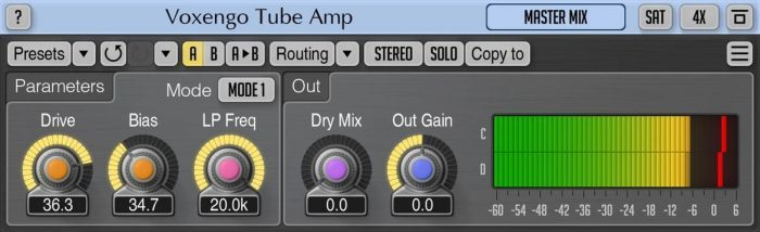 Voxengo Tube Amp 2.8