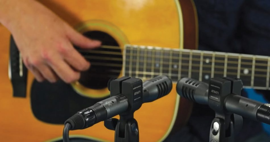 Audio Technica AE5100 on guitar