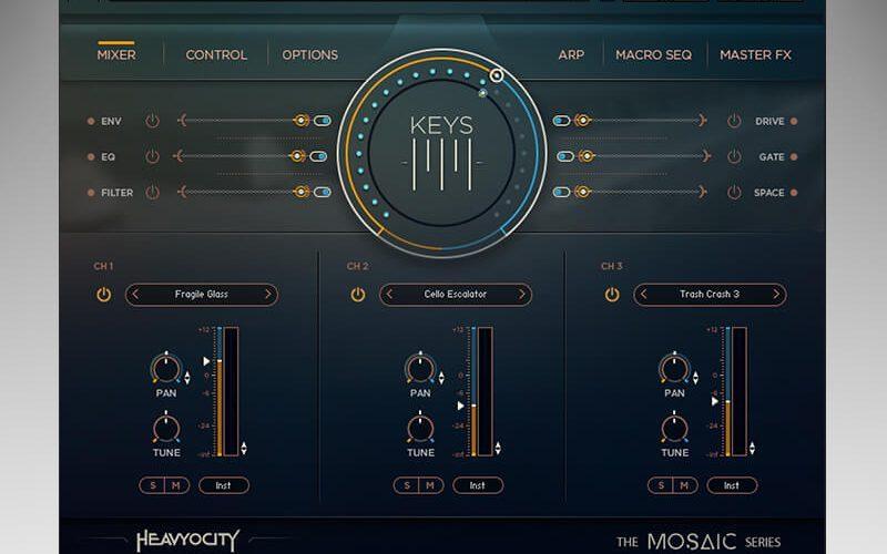 Heavyocity Mosaic Keys GUI
