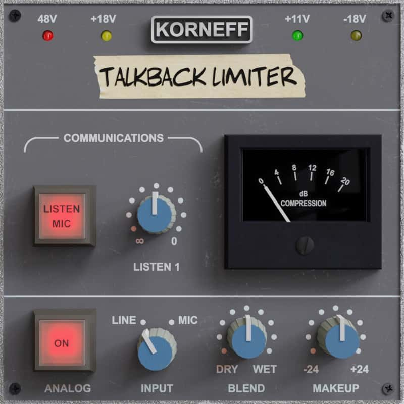 Add punch to your audio with Talkback Limiter by Korneff Audio