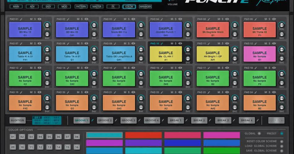 Rob Papen Punch 2 colors