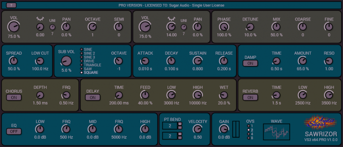Sugar Audio Sawrizor