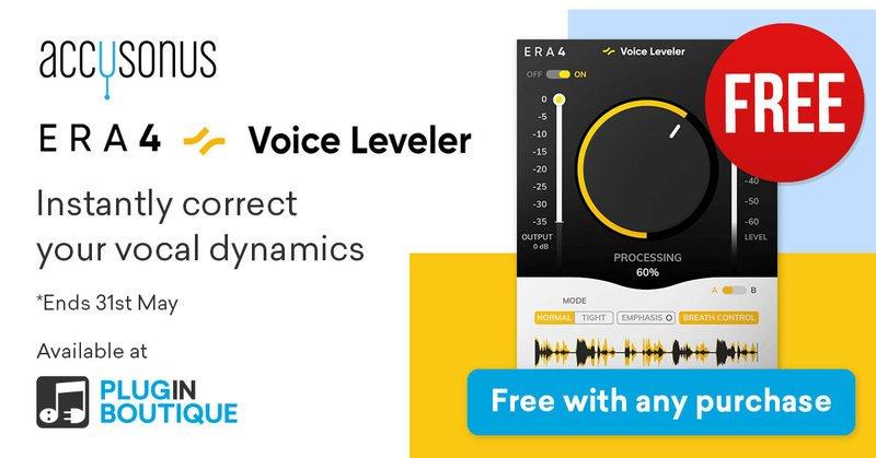 accusonus era 4 voice leveler free giveaway