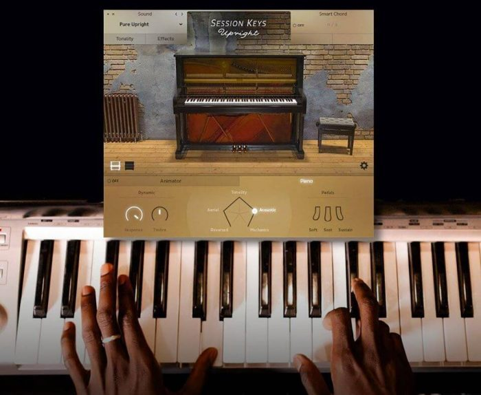 e instruments Session Keys Upright feat