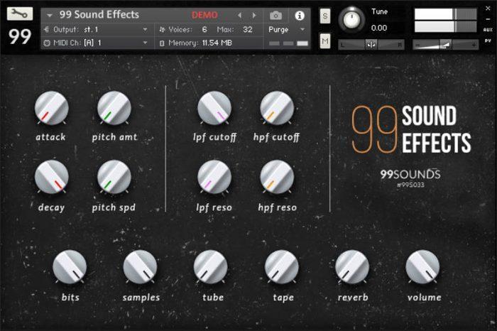99 sound effects Kontakt