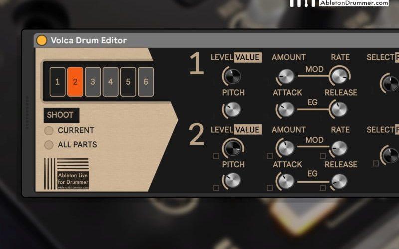 AbletonDrummer Volca Drum Editor