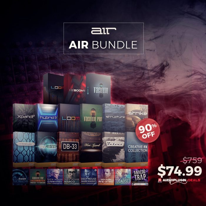 Audio Plugin Deals AIR Bundle 90 OFF