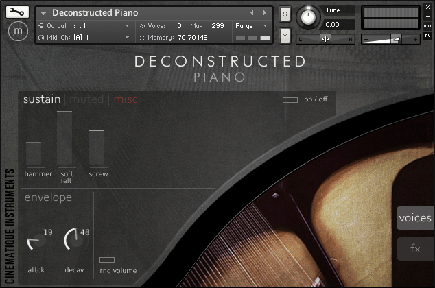 Deconstructed Piano by Cinematique Instruments on sale at 30% OFF