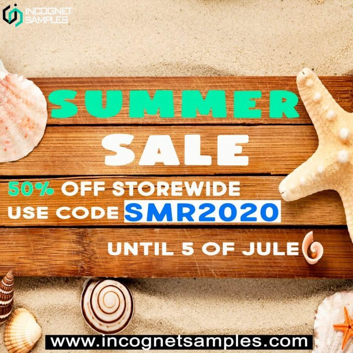 Incognet Summer Sale