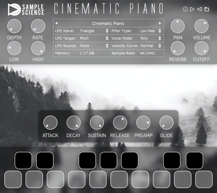 SampleScience Cinematic Piano Screenshot