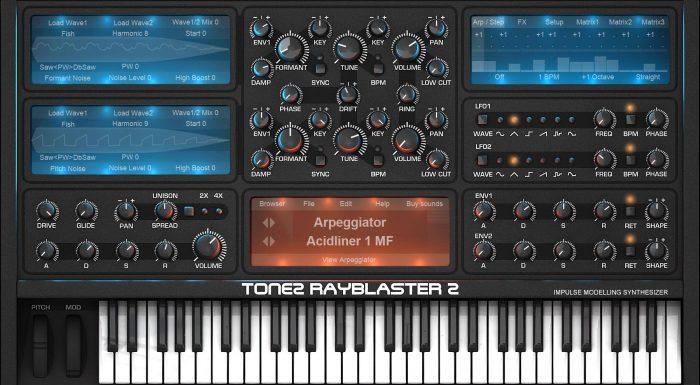 Tone2 RayBlaster 2.6 GUI