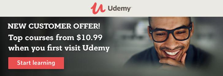 Udemy new customer sale