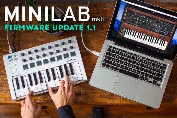 Arturia MiniLab MkII 1.1 firmware update