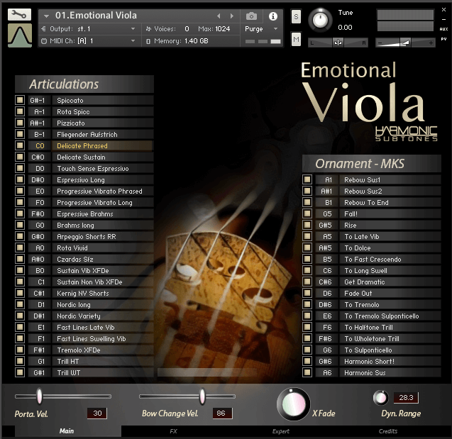 Best Service Emotional Viola GUI